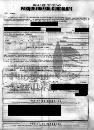 arroniz-certificado-titulo-parque-funeral-guadalupe-panteon